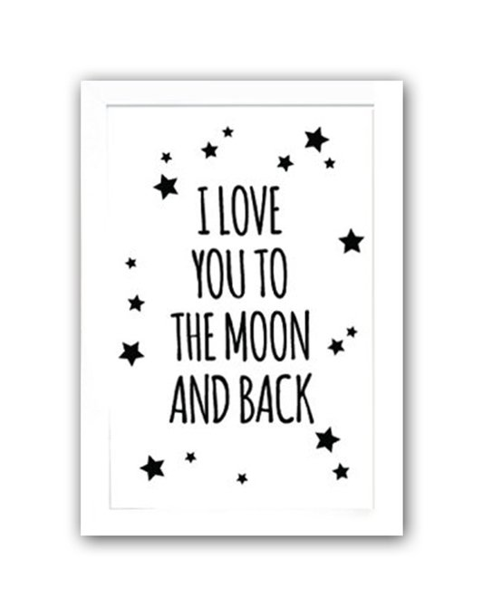 """Постер """"To the white moon and back"""" А4"""