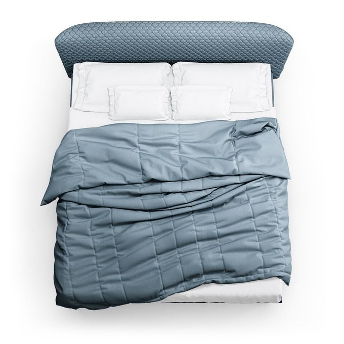 Кровать Венди серо-голубого цвета 140х200