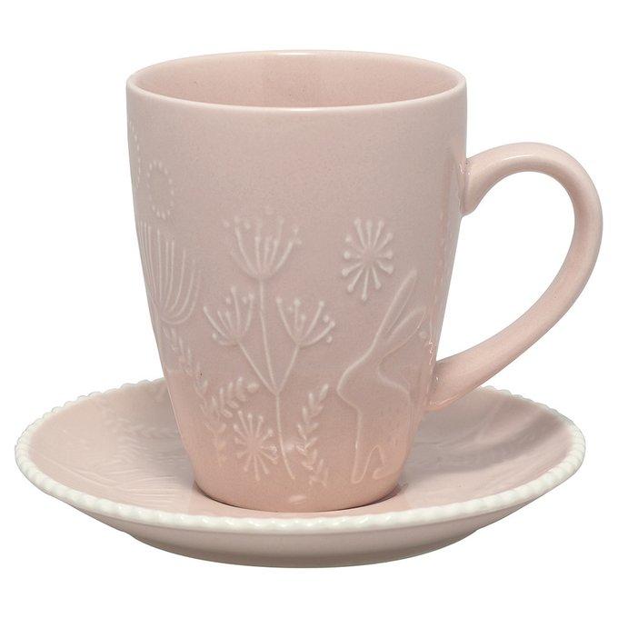 Чайная пара Evy pale pink из керамики