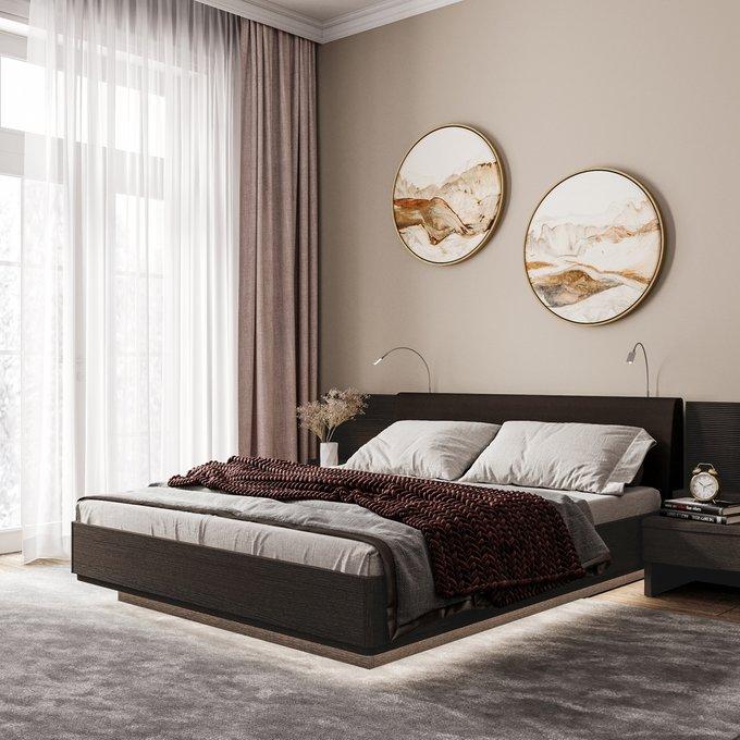 Двуспальная кровать с верхней и нижней подсветкой Элеонора 140х200