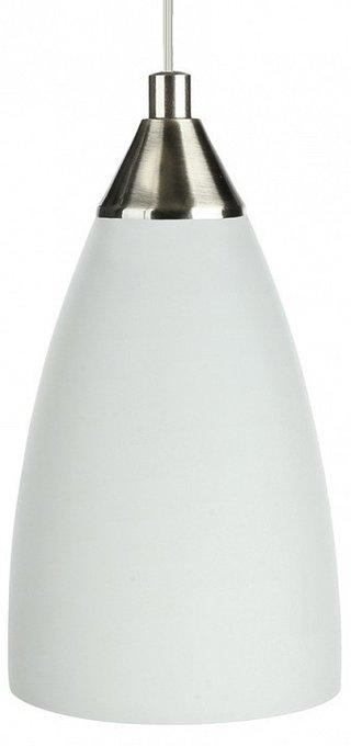 Подвесной светильник из металла и белого стекла