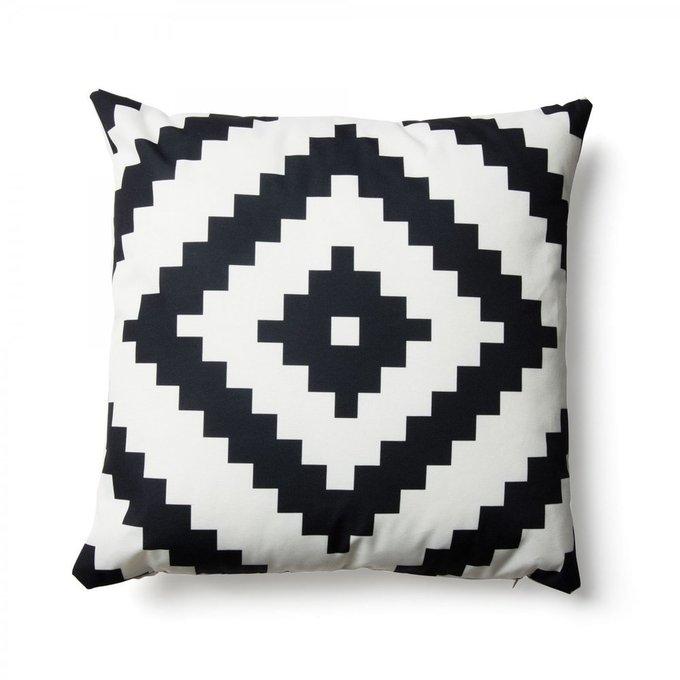 Чехол для подушки All черно-белого цвета 45x45
