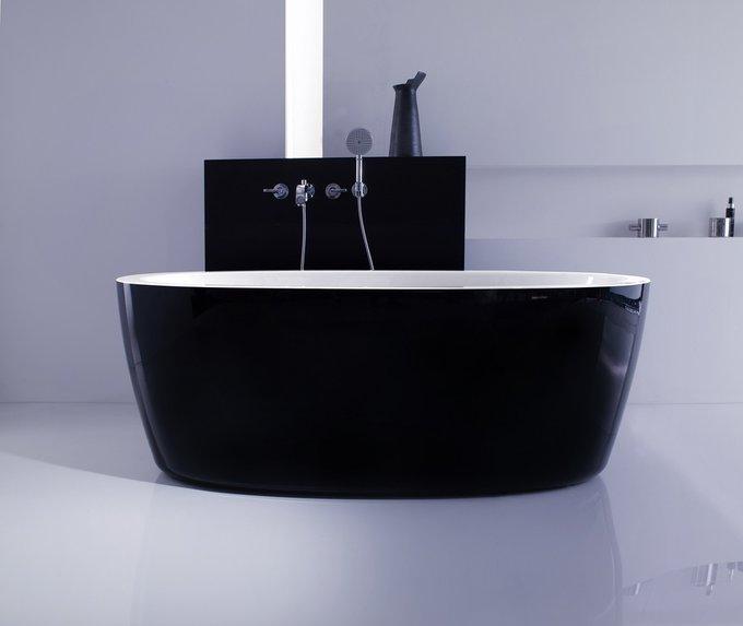 Акриловая Ванна PureScape 174A Черно-Белая