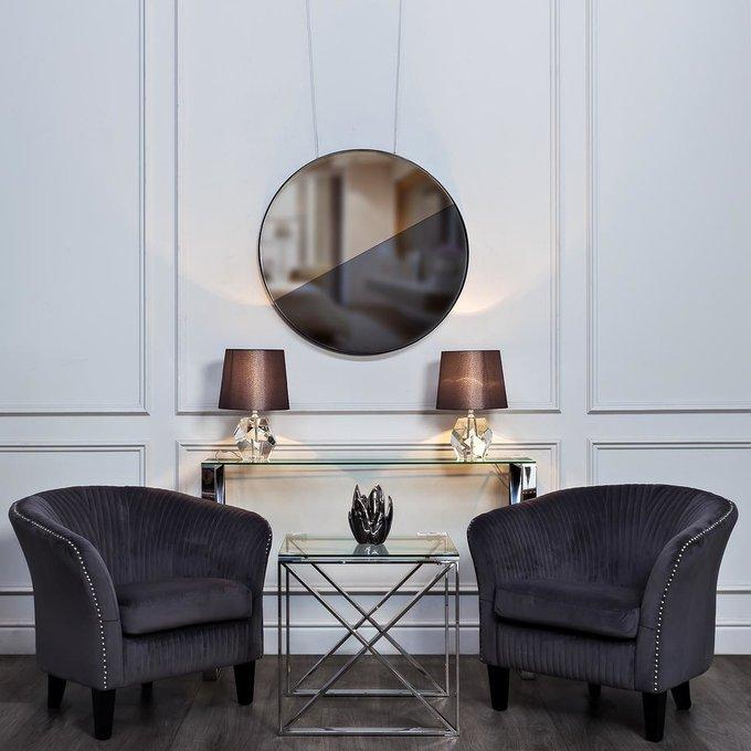 Кресло серый велюр