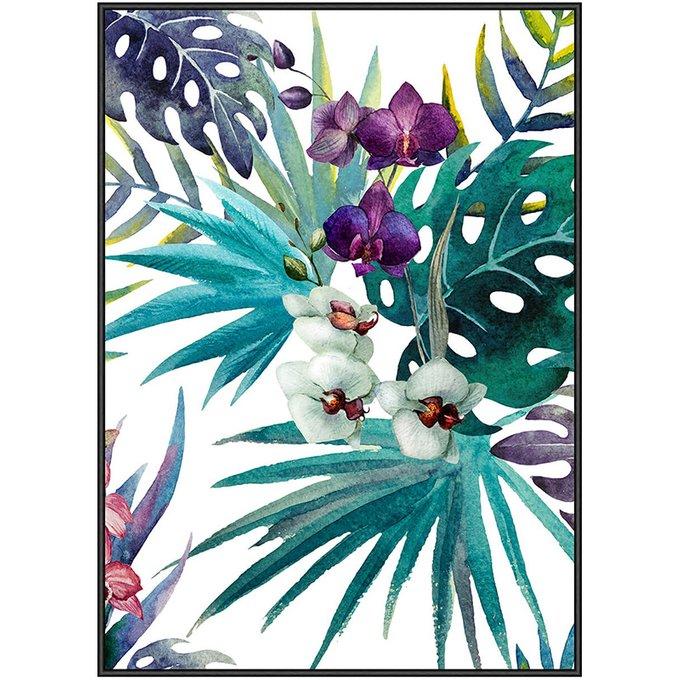 Панно Tropic Flower в деревянной раме