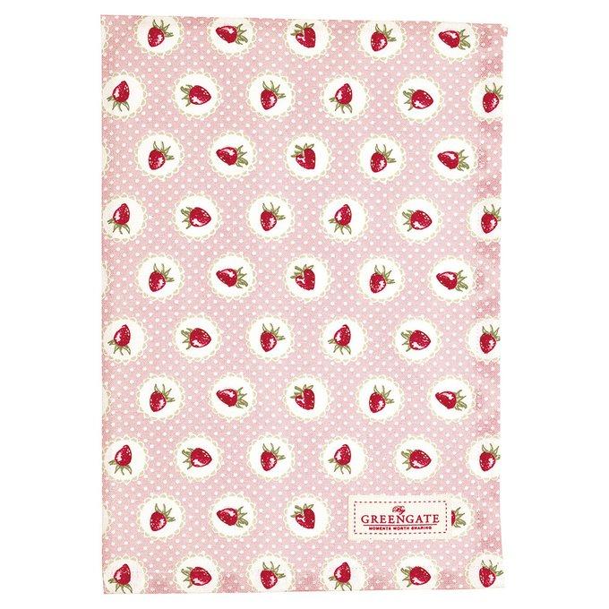 Полотенце Strawberry pale pink из хлопка