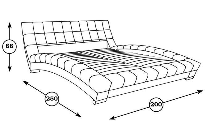 Кровать Оливия бежевого цвета 160х200