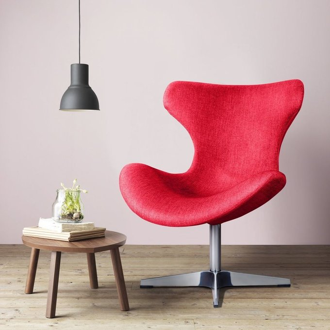 Лаунж кресло Vibe рогожка красного цвета