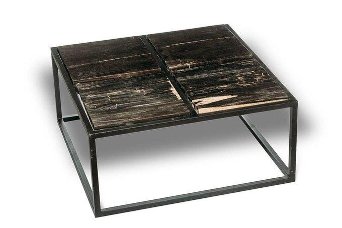 Журнальный стол Таланго из окаменелого дерева 22