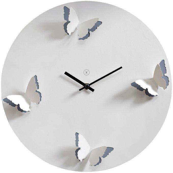 Настенные часы Venice с бабочками на циферблате