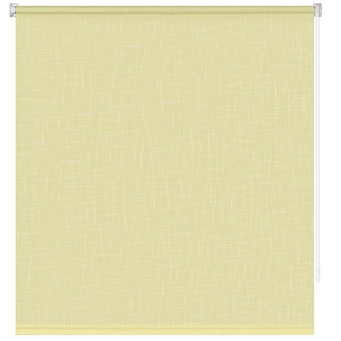 Рулонная штора Миниролл Шантунг лимонного цвета 40x160