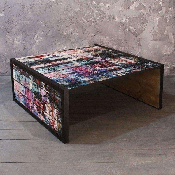 Журнальный стол Art со столешницей из массива сосны