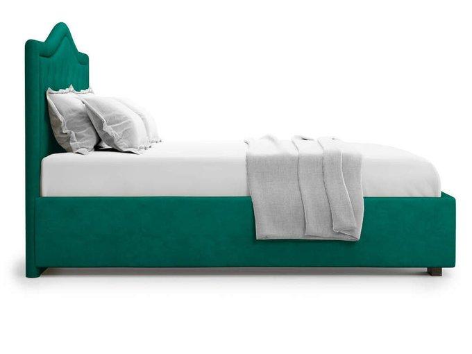Кровать Tibr без подъемного механизма 160х200 зеленого цвета