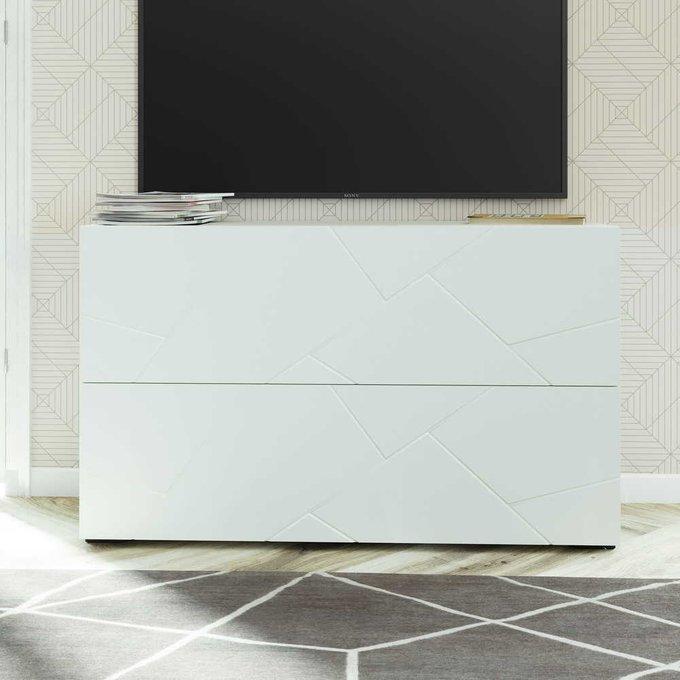 Тумба под телевизор Селеста белого цвета