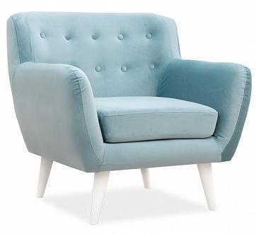 Кресло Эллинг дизайн 9 голубого цвета