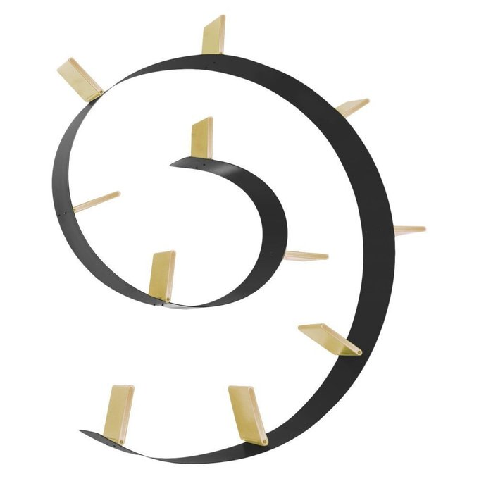 Полка книжная Popworm черно-золотого цвета