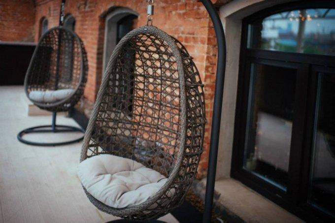 Подвесное кресло Флоренция из плоского искусственного ротанга