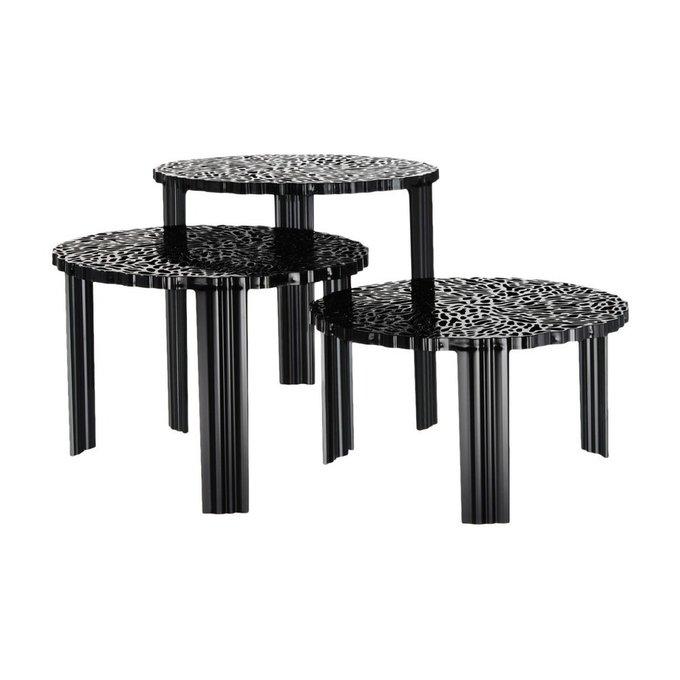 Журнальный столик T-Table черного цвета малый