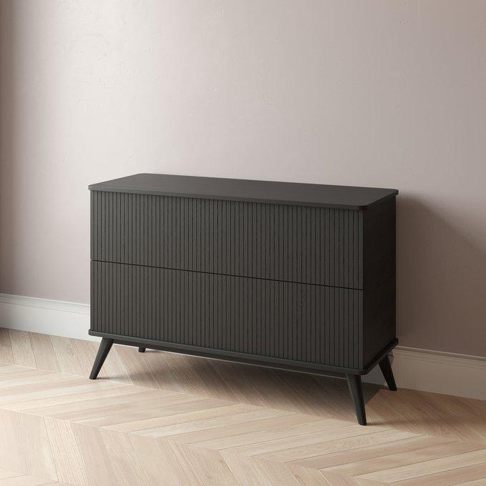 Комод Viva 3 - 100 с двумя ящиками черного цвета