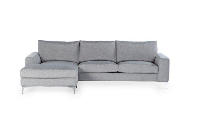 Угловой диван Nordic серого цвета