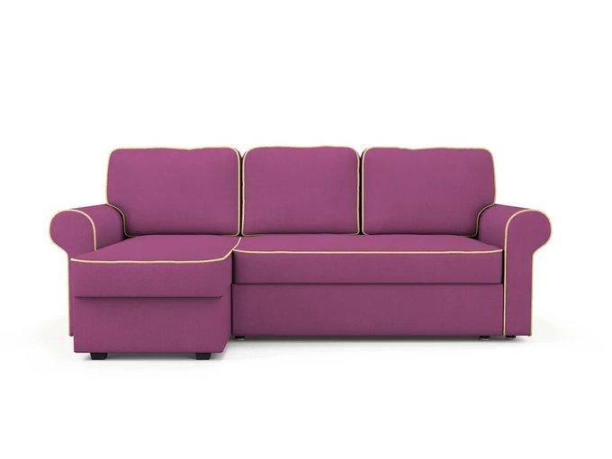 Угловой Диван-кровать Tulon левый пурпурного цвета