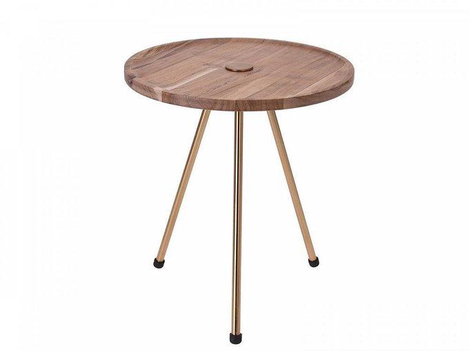 Журнальный столик Willy с деревянной столешницей