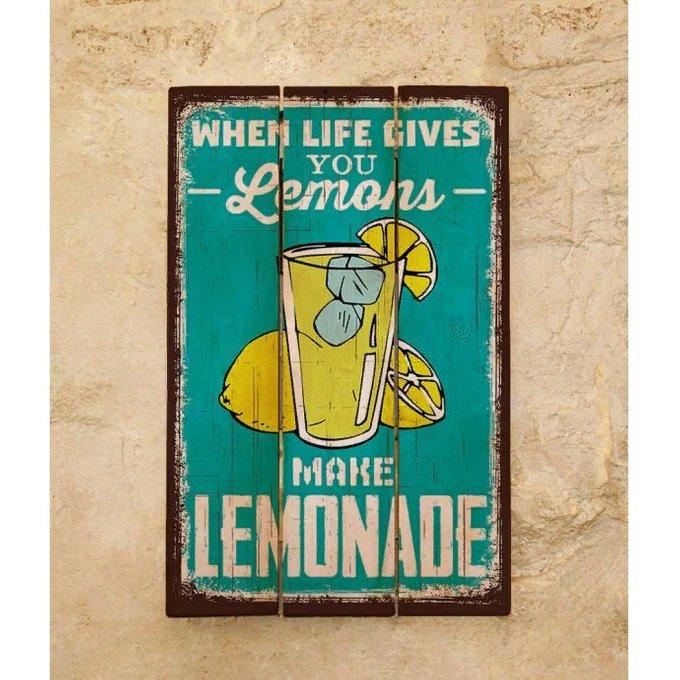 Деревянная табличка Lemonade 30х45