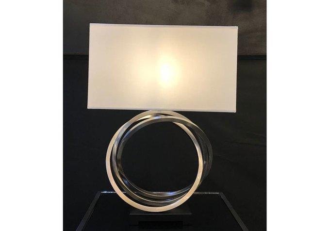 Настольная лампа Lucian с белым абажуром