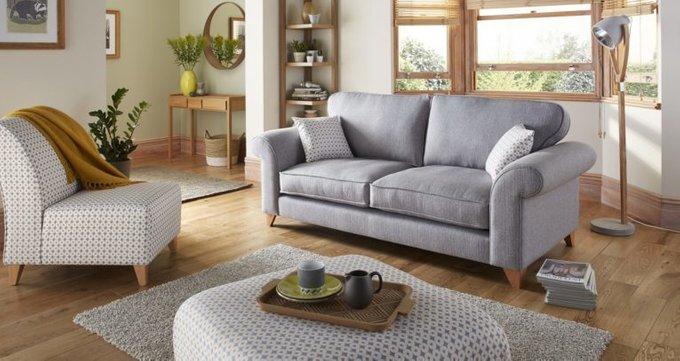 Трехместный диван Angelic серый