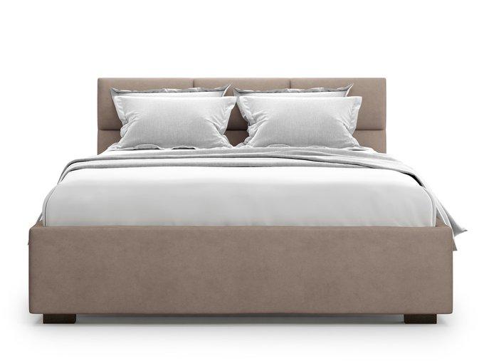Кровать Bolsena без подъемного механизма 180х200 коричневого цвета