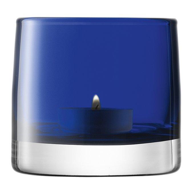 Подсвечник для чайной свечи light colour синий