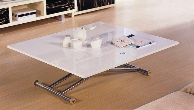 Раскладной журнально-обеденный стол с регулируемой высотой