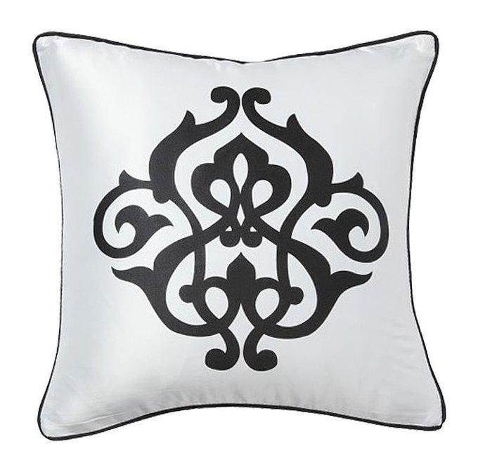 Подушка с принтом  Fleur de Lys White I