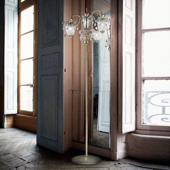 Торшер MM Lampadari с элегантными плафонами из муранского стекла
