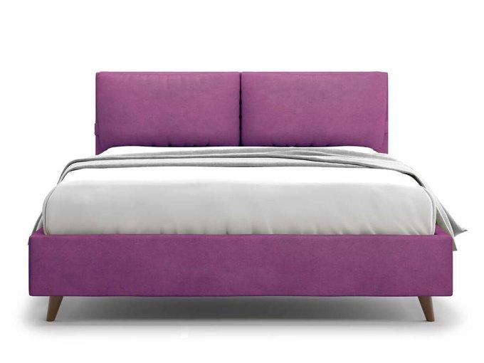 Кровать Trazimeno 140х200 фиолетового цвета
