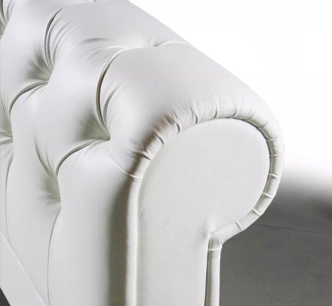 Кровать Adelle 180х200 белая экокожа большая из МДФ