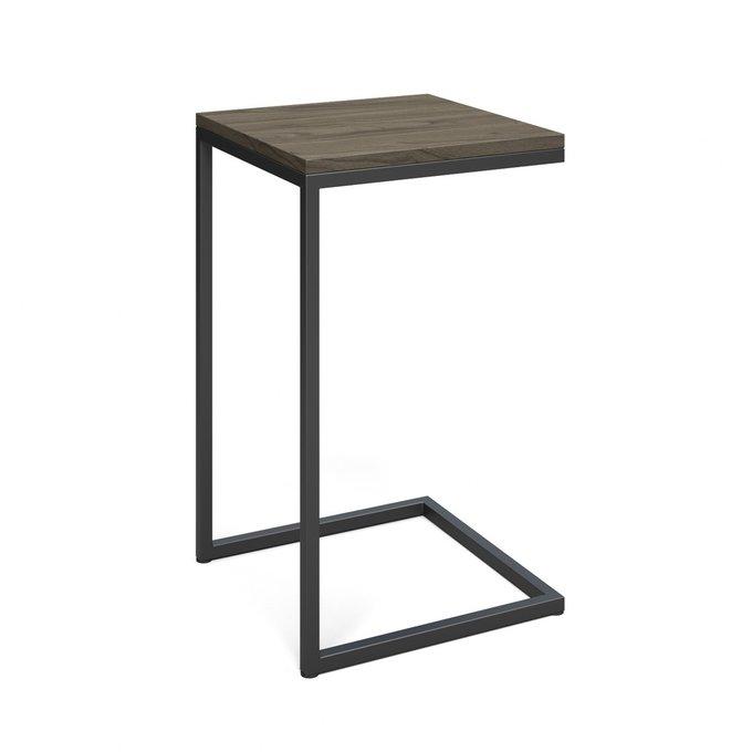 Приставной столик Джейн серого цвета