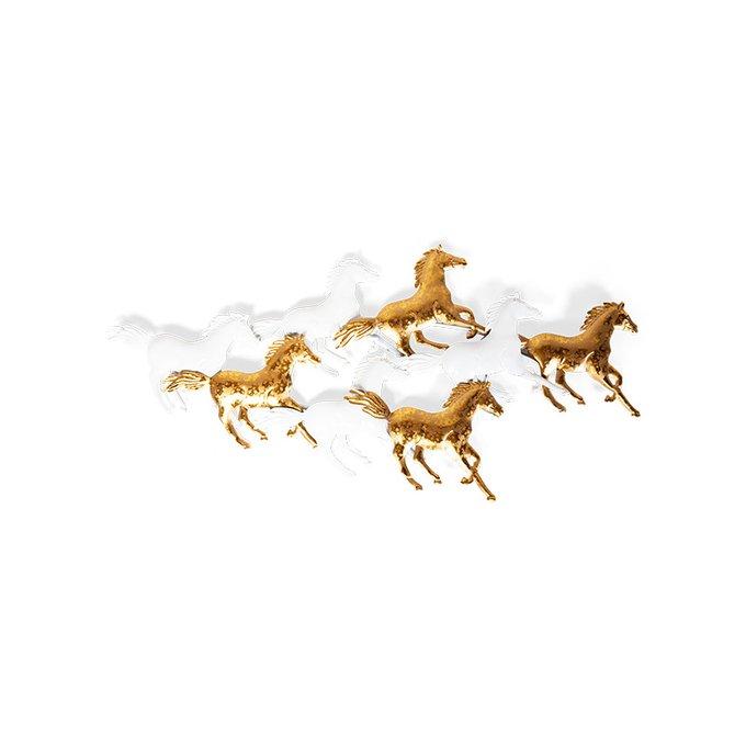 Панно настенное Felicity Horses золотого цвета