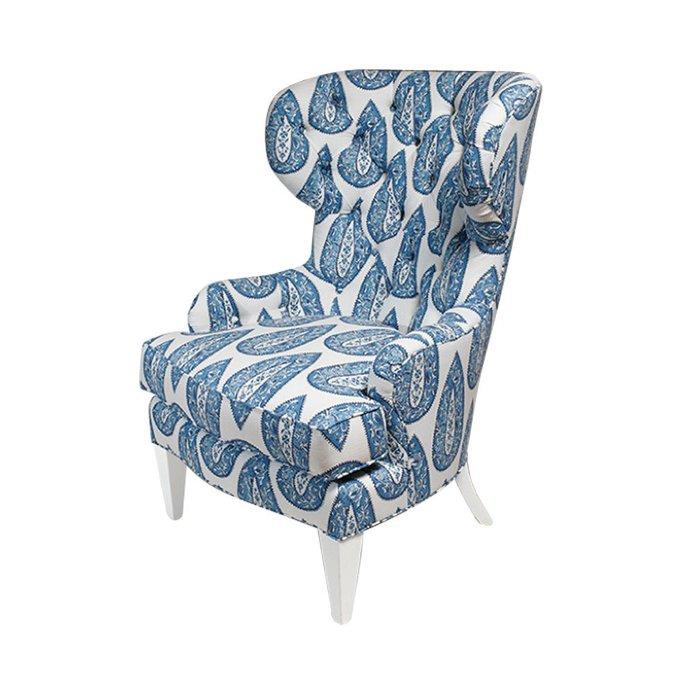 Кресло Davis Wing бело-синего цвета