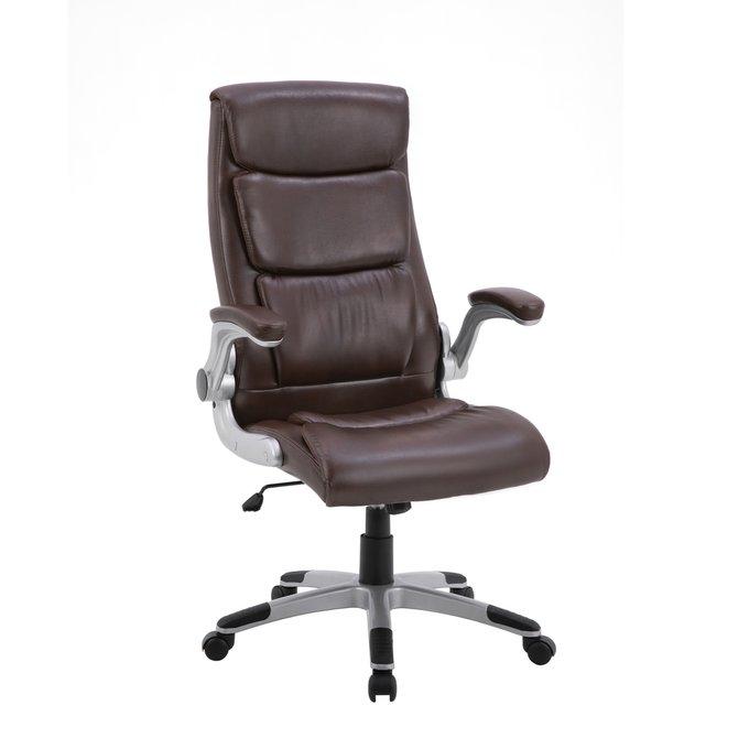 Офисное кресло Top Chairs Force коричневого цвета
