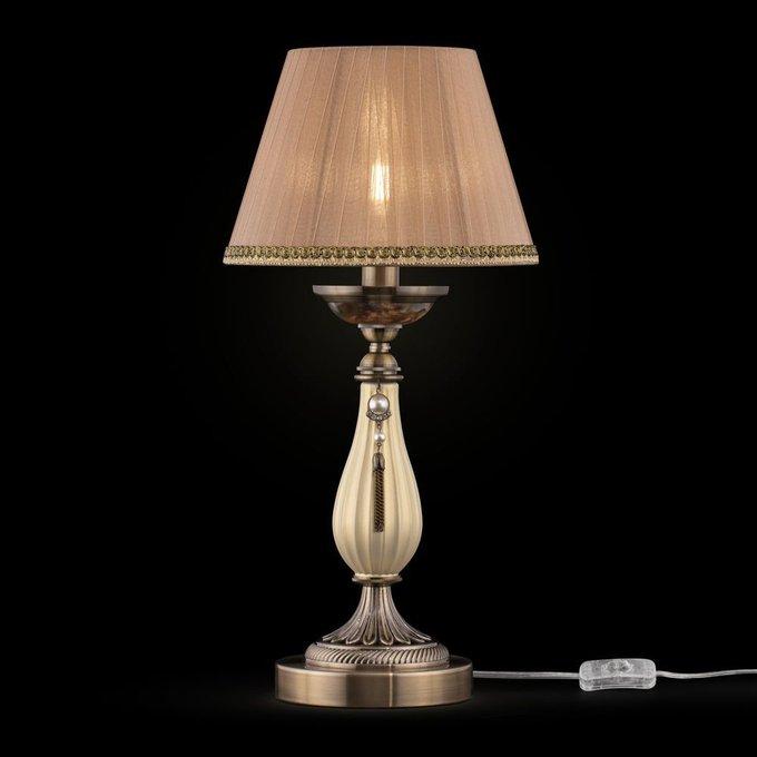 Настольная лампа Demitas с бежевым абажуром