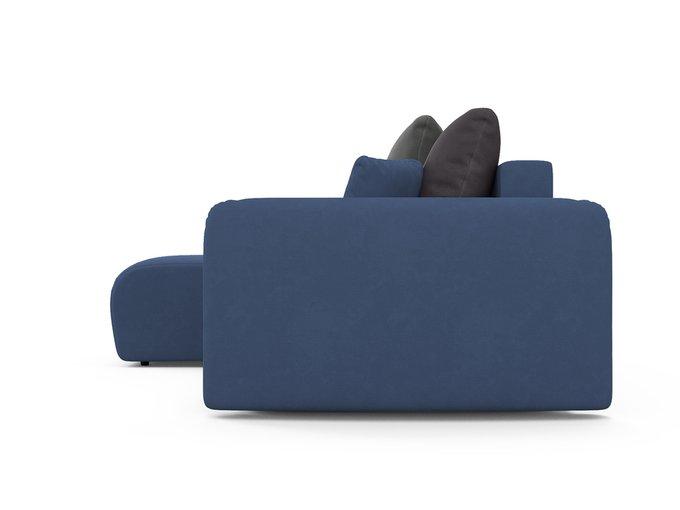 Угловой диван-кровать левый Arti синего цвета