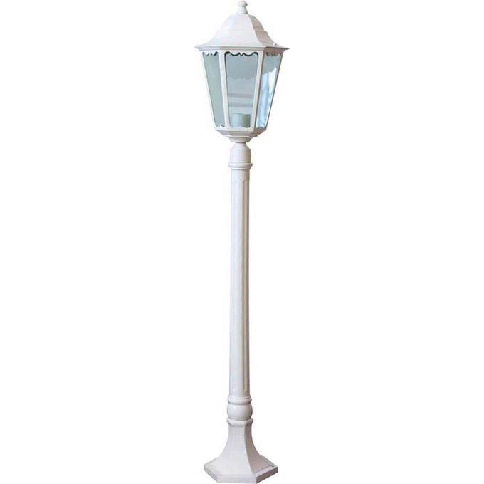 Уличный светильник белого цвета