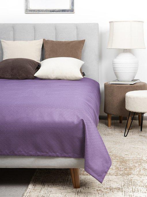 Покрывало Uno Vertikale Violet 140x210 фиолетового цвета