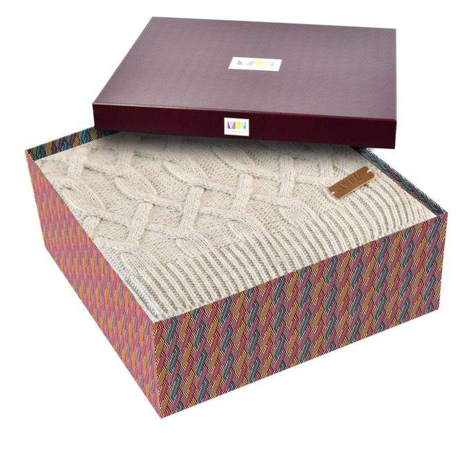 Плед в подарочной коробке Vermont бежевого цвета 130х180