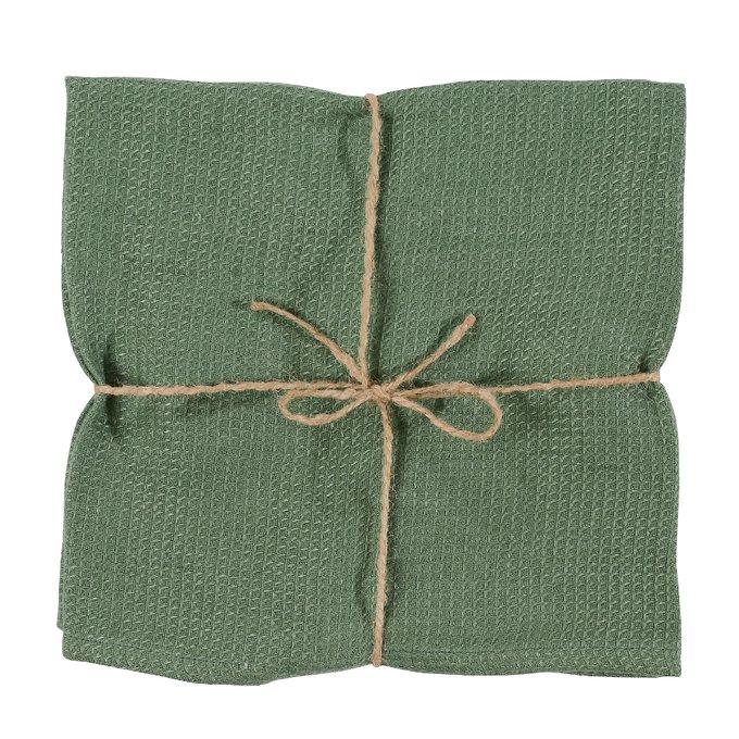 Вафельное кухонное полотенце из умягченного льна мятного цвета Essential