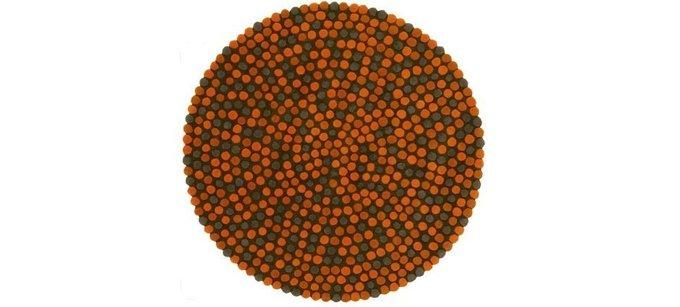 Круглый ковер Adok оранжевого цвета 100 см