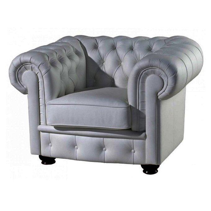 Кресло Честерфилд серого цвета