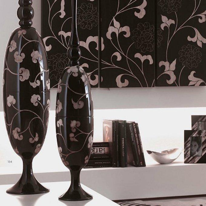 Деревянная ваза Loca Nera Wooden Pattern