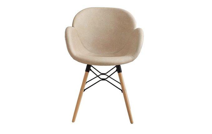 Стул-кресло Колонель бежевого цвета